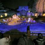 The garden emerges in fantastic blue lights (March 6, Kodaiji Temple, Higashiyama Ward, Kyoto)