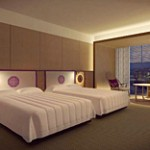 A conceptual drawing of a standard room commanding a view of Higashiyama (provided by the Ritz-Carlton Hotel Company)