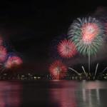 "Photo= ""Biwako Dai-Hanabi Taikai"" portrays seasonal scenes with approximately 10,000 fireworks (August 8, Yanagasaki, Otsu City, Shiga Prefecture; view from Biwako Otsukan)"