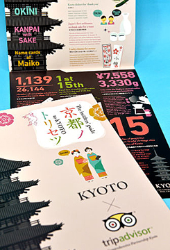 """Photo= """"Kyoto no Torisetsu"""" produced for foreign visitors"""
