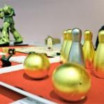 Photo= Hand-made toys created using skills for producing Buddhist altars and altar fittings (Miyakomesse, Sakyo Ward, Kyoto)