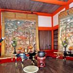 Photo= Keio-ji Temple's Butsu Nehan-zu is exhibited for the first time with Dai Nehan-zu (left) (Kiyomizu-dera Temple, Higashiyama Ward, Kyoto)
