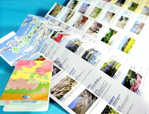 Photo= Compact foldable guide maps for spring flowers
