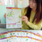 Photo= Quadrilingual guide map for subway station areas in response to the increasing number of foreign tourists (Kyoto Municipal Transportation Bureau, Ukyo Ward, Kyoto)