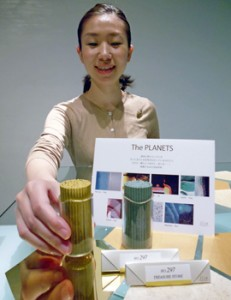 "Photo= ""The PLANETS,"" a new incense series, reflects the images of planets (Lisn Kyoto, Shimogyo Ward, Kyoto)"
