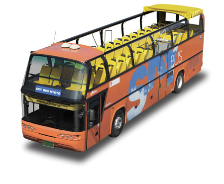 Photo= Open-top double-decker bus which will run as a regular tour bus from October