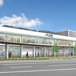 Photo= Rendering of the renovated Otsu Station building's facade
