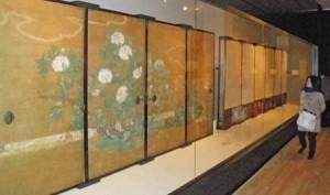 Photo= Daikakuji Temple's special spring exhibition, where the tree peony paintings are displayed (Ukyo Ward, Kyoto)