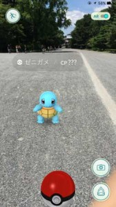"Photo= ""Squirtle,"" a Pokémon character, has appeared (Kamigyo Ward, Kyoto)"