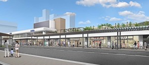 Photo= A conceptual drawing of JR Otsu Station after renovations