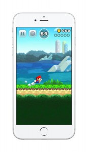 "Photo= An image of ""Super Mario Run"" to be released for smartphones in December by Nintendo"
