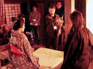 """Photo= """"Kyoto Filmmakers Lab"""" in which the number of applicants hit a record high. Young cineastes from Japan and overseas experienced the making of historical period dramas this year also (Shochiku Kyoto Studio, Ukyo Ward, Kyoto)"""