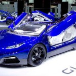 "Photo= The next-generation supercar ""GLM G4"" which GLM aims to equip with internet connection function"