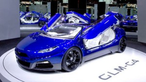 """Photo= The next-generation supercar """"GLM G4"""" which GLM aims to equip with internet connection function"""