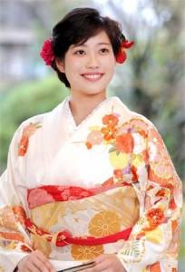 Photo= Sayo Tomita who has been chosen as the 62nd Saio-dai (April 11, Kyoto Heian Hotel, Kamigyo Ward, Kyoto)