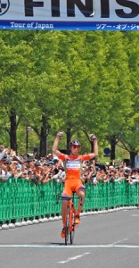 Photo= Marco Canola, who finished in first place (Hikaridai, Seika-cho, Kyoto Prefecture)