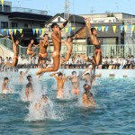 "Photo= ""Waterboys"" by Yamashiro High School's swim team, who gave a perfectly synchronized performance (September 8, Kita Ward, Kyoto)"
