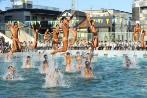 "Photo= ""Waterboys"" by Yamashiro High School's swim team, who gave a perfectly synchronized performance (September 8, Kita Ward, Kyoto)"