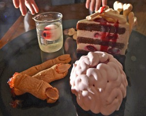 "Photo= ""Horror sweets"" available until Halloween (Royal Oak Hotel Spa & Gardens, Kayanoura, Otsu City, Shiga Prefecture)"