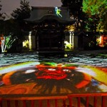 Photo= Guardian gods of Buddhism etc. are shown in the projection mapping's test run (October 18, Kodaiji Temple, Higashiyama Ward, Kyoto)