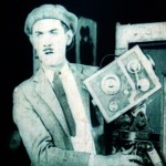 Photo= A scene from the recently-discovered Charley Chase film. Chase plays the role of cameraman