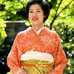 Photo= Shiho Sakashita who has been chosen as the 63rd Saio-dai (2:40 p.m., April 13, Kyoto Heian Hotel, Kamigyo Ward, Kyoto)