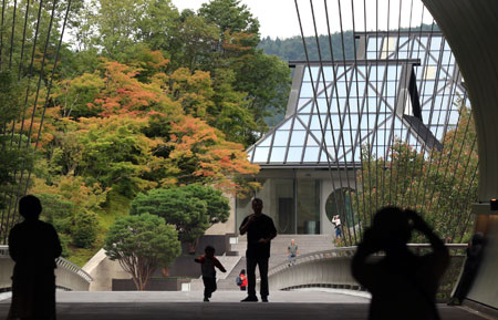 Photo= MIHO MUSEUM is changing into its autumn attire as its maple leaves are already turning red (Shigaraki-cho, Koka City, Shiga Prefecture)