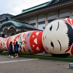 Kyoto's sleeping beauty: Gigantic inflatable Japanese doll forced to lie down