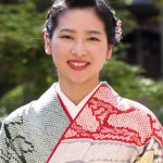Rika Ouno who has been selected as the 64th Saio-dai (at a hotel in Kamigyo Ward, Kyoto)