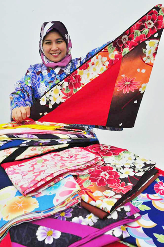 Kimono-inspired hijabs prove culture mashup hit with Muslim tourists