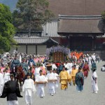 The Aoi Festival procession sets out from the Kyoto Imperial Palace (May 15, Kamigyo Ward, Kyoto)