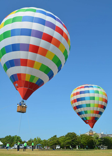 Last year's event to experience hot-air ballooning. It had the highest number of participants ever. (Oroshimo-cho, Kusatsu City)= Provided by Kusatsu City